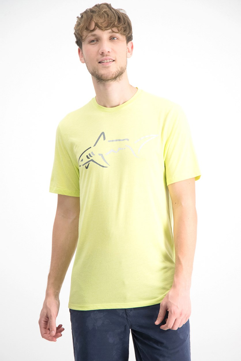 Men's Shark Logo T-Shirt, Lime Dew
