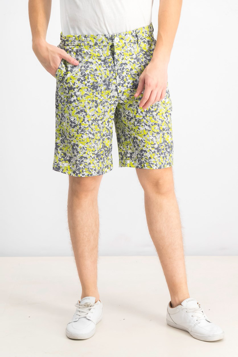 Men's Oakhill Floral-Print Shorts, Bright White