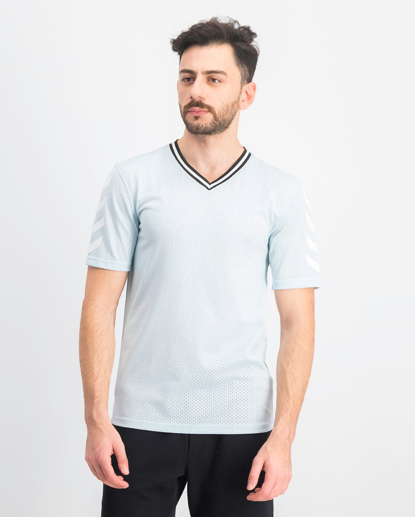 Men's Mesh V-Neck Jersey, Cool Dusk