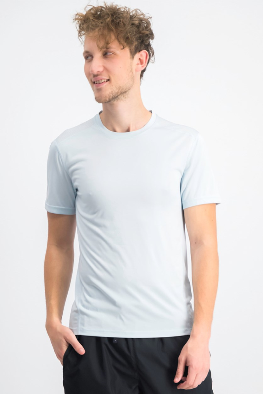 Men's Core Crew Neck Mesh-Back T-Shirt, Cool Dusk