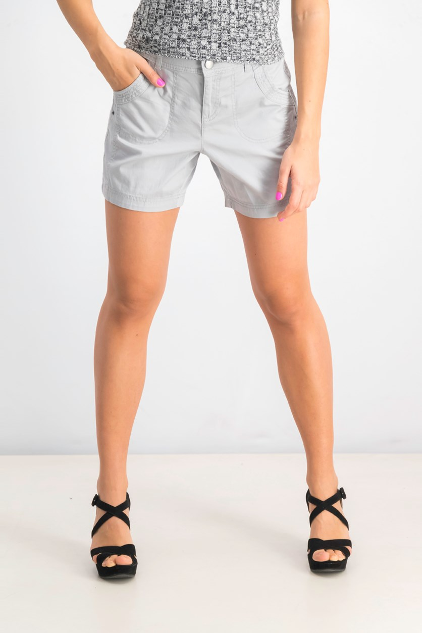 Women's Petite Relaxed-Fit Shorts, Misty Harbor