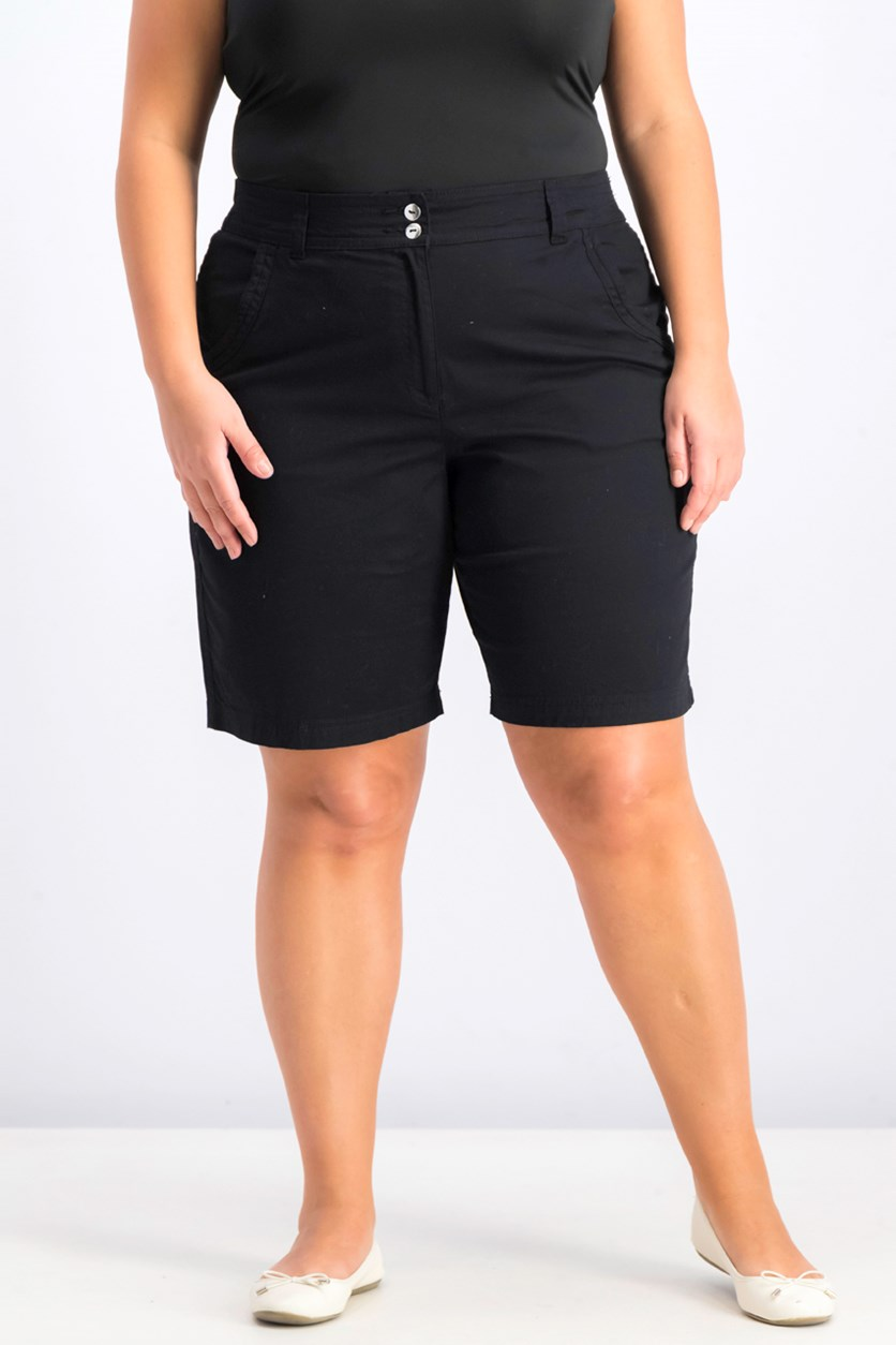 Women's Woven Short, Black