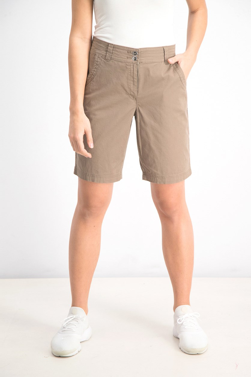 Women's Woven Short, Brass Iron