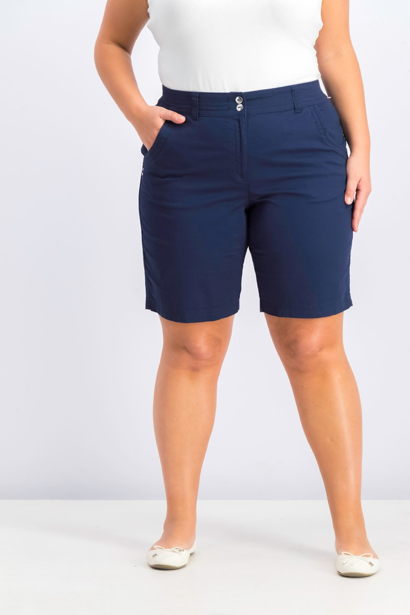 Women's Curved Pocket Shorts, Intrepid Blue