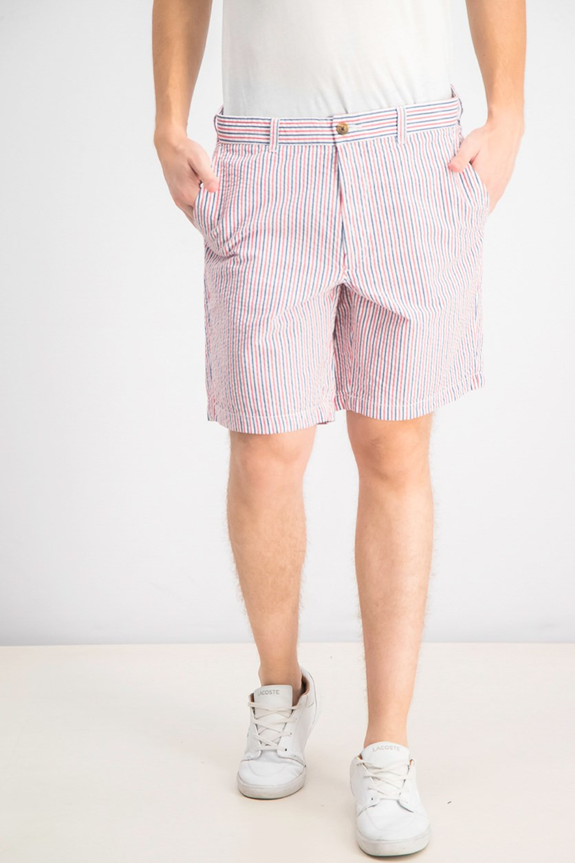 Men's Americana Seersucker Stretch Shorts, Fire Combo