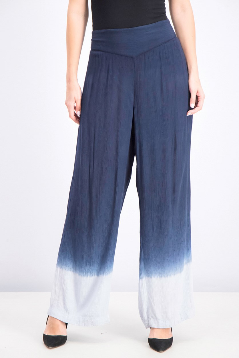 Women's Ombre Wide-Leg Pants, Deep Twilight