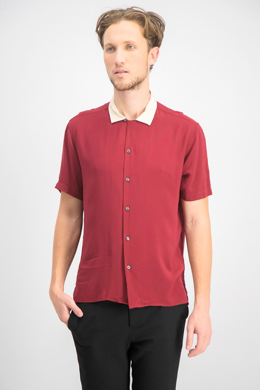 Men's Regular-Fit Camp Shirt, Chinese Apple