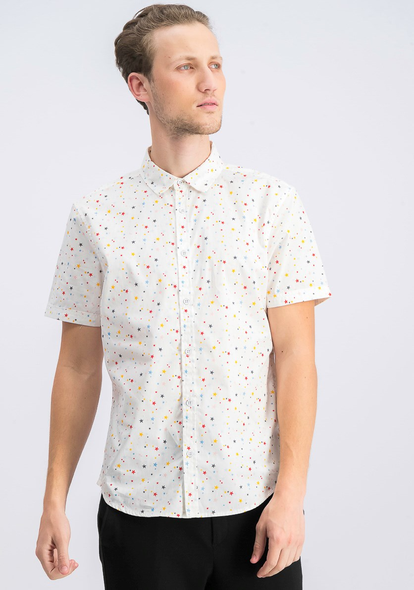 Men's Pop Star Shirt, White Pure