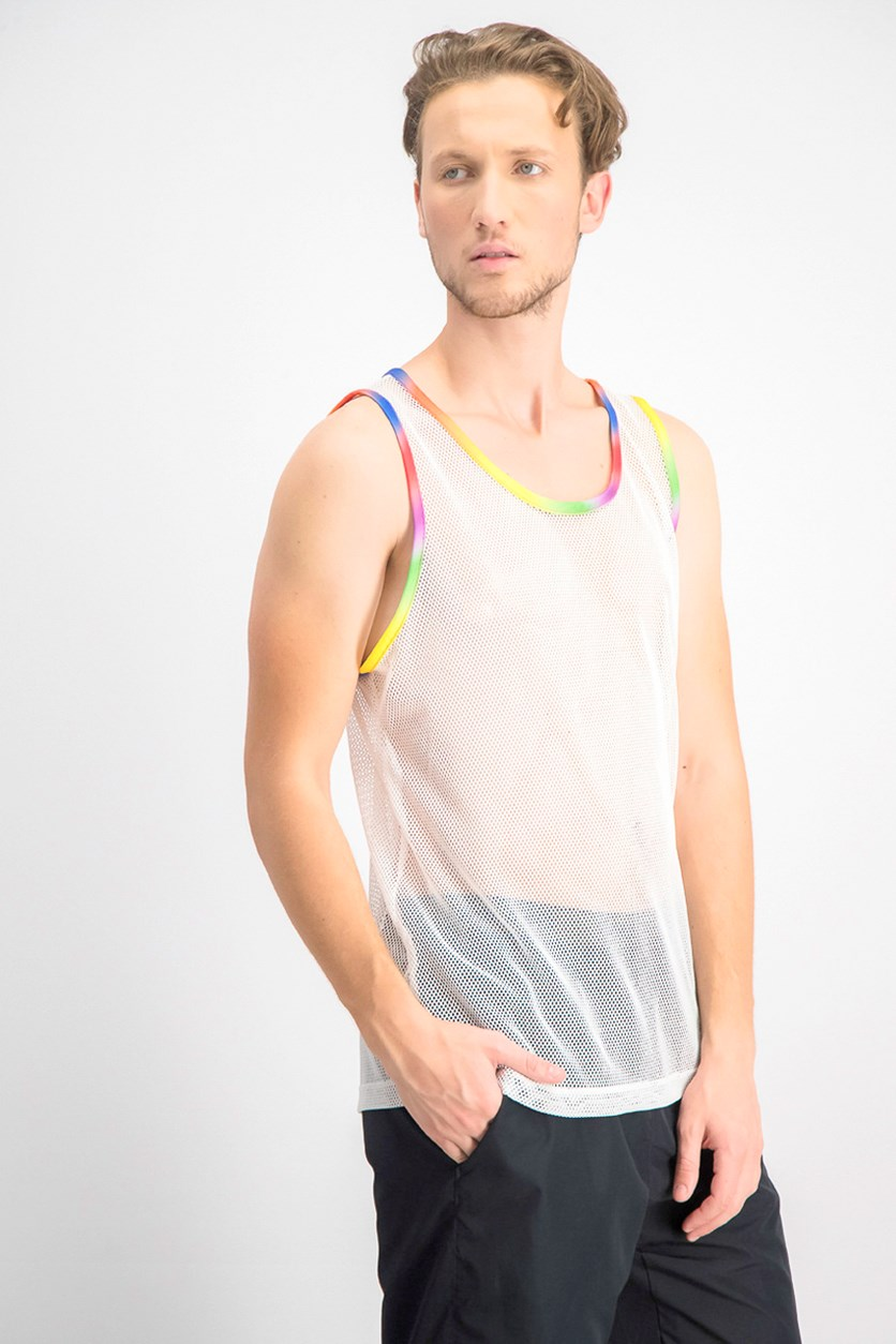 Men's Rainbow Pride Tank Top, White Pure