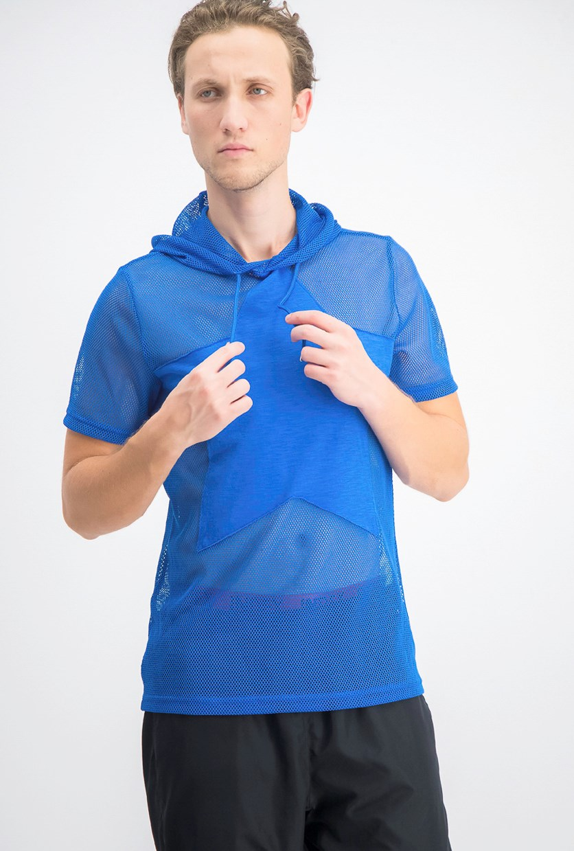 Men's Star Hooded T-Shirt, Blue