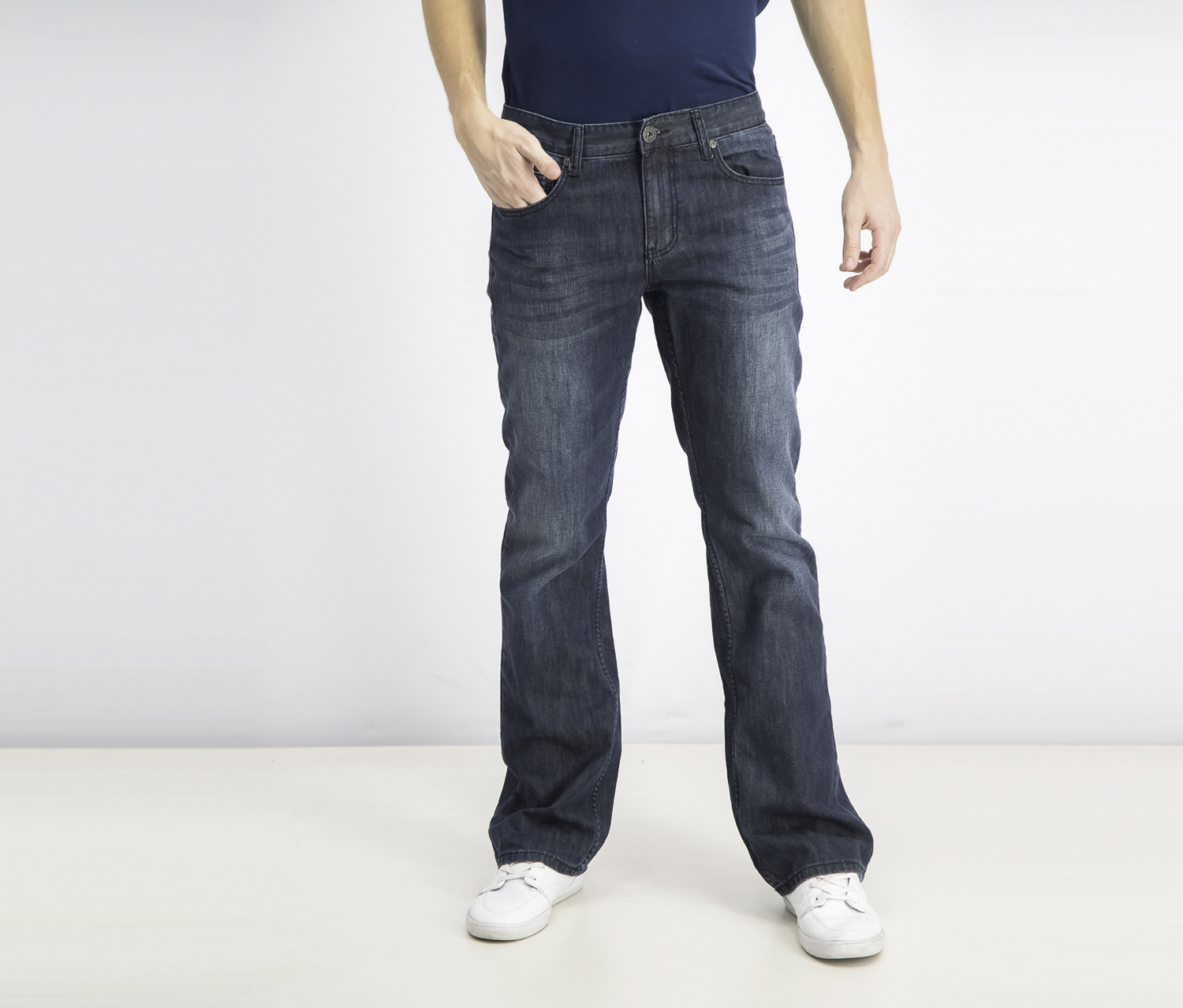 Men's Modern Bootcut Jeans, Dark Wash