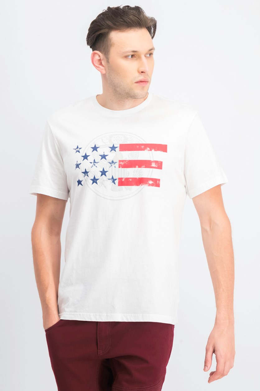 Men's Americana Graphic-Print T-Shirt, White