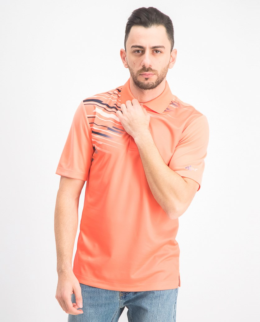 Men's Cooper Polo Shirt, Coral Crush