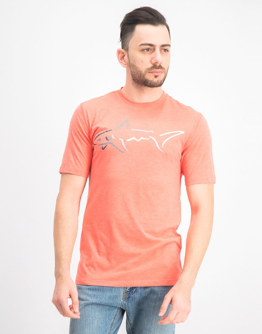 Men's Graphic-Print Cotton T-Shirt, Seaside Coral