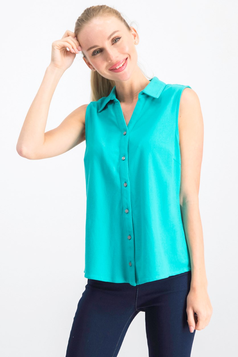 Women's Sleeveless Top, Turquoise Stone