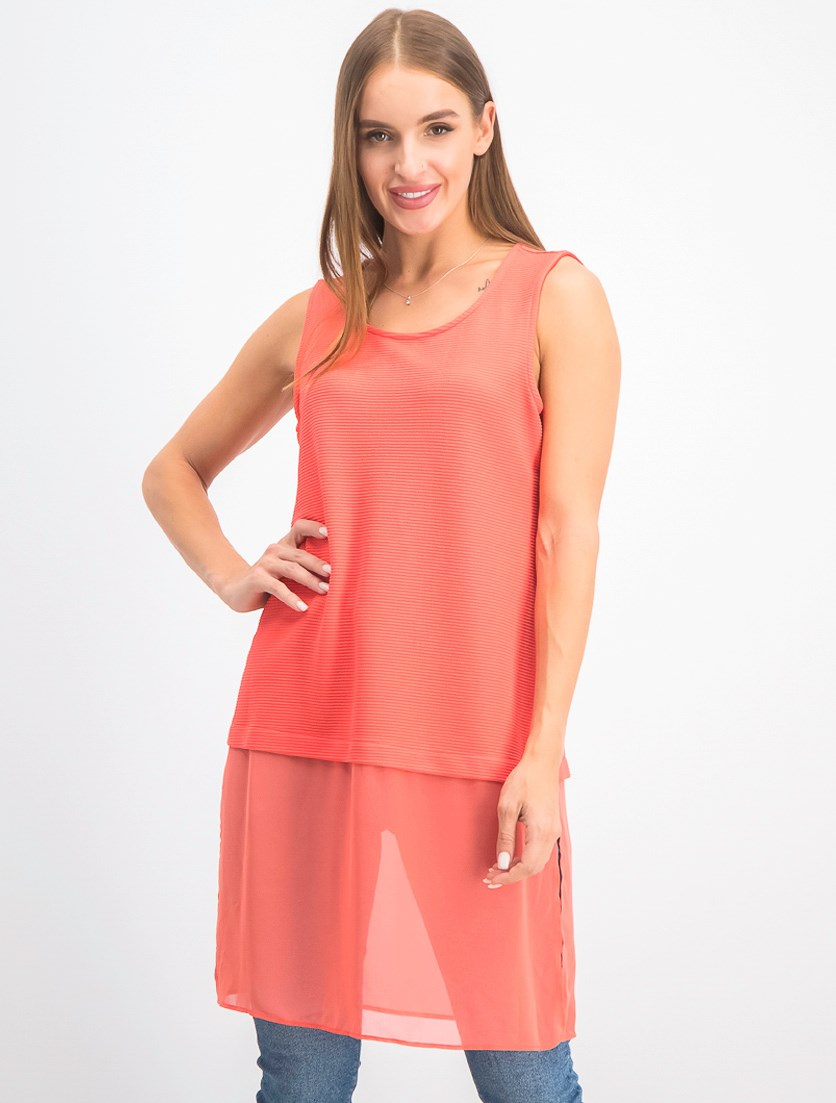 Women's Sleeveless Tops, Coral Branch