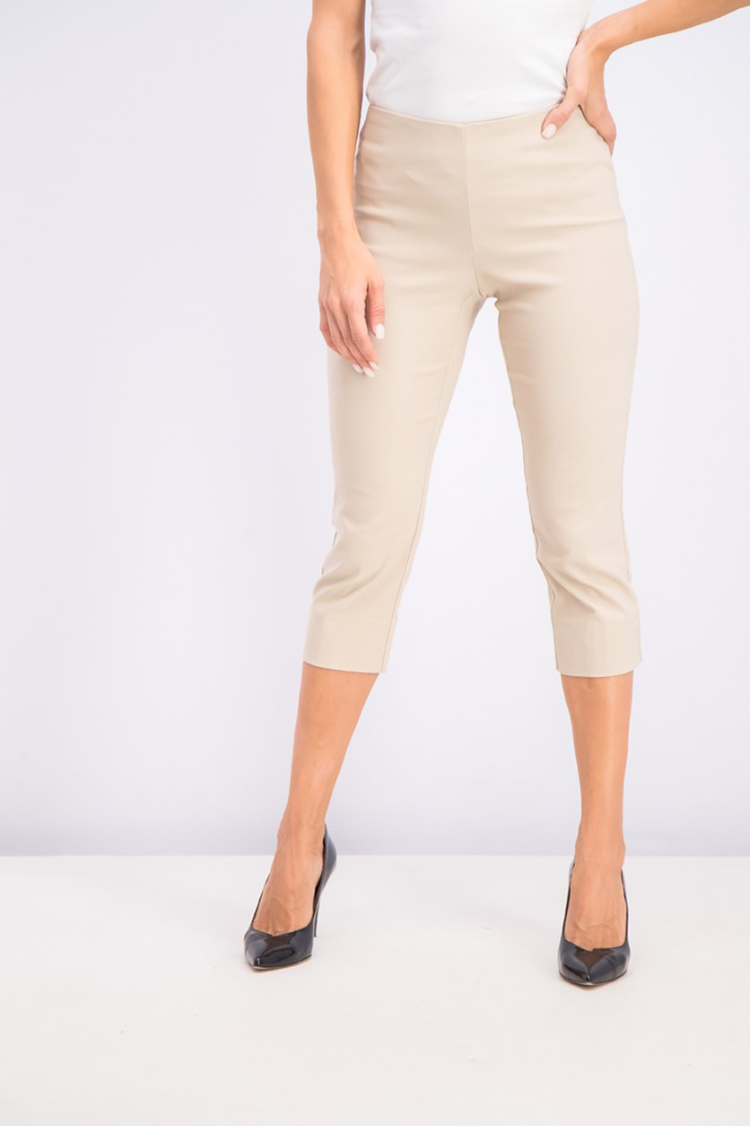 Petite Pull-On Capri Pants, Sedona Dust