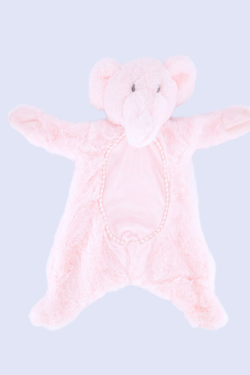 Baby Girl's Elephant flatties with Crinkle Belly, Pink