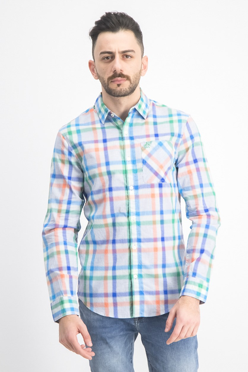 Men's Heathered Plaid Shirt, Bosphorus