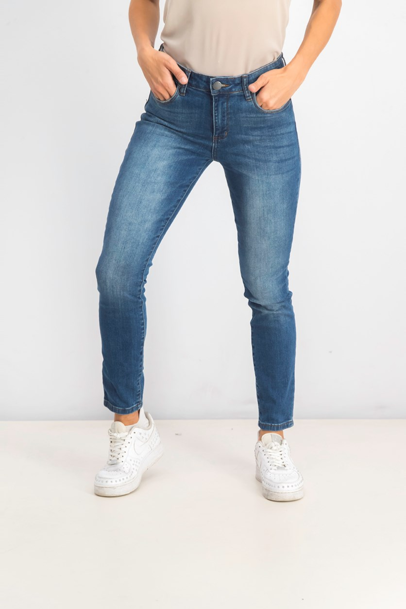 Women's High Rise Ankle Jeans, Denim Blue