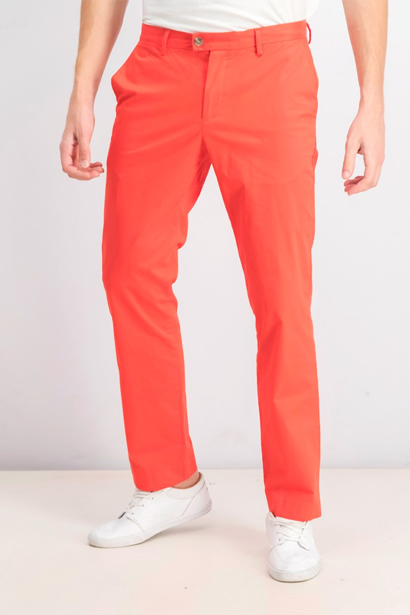 Men's Refined Stretch Slim Fit Chinos, Bright Red