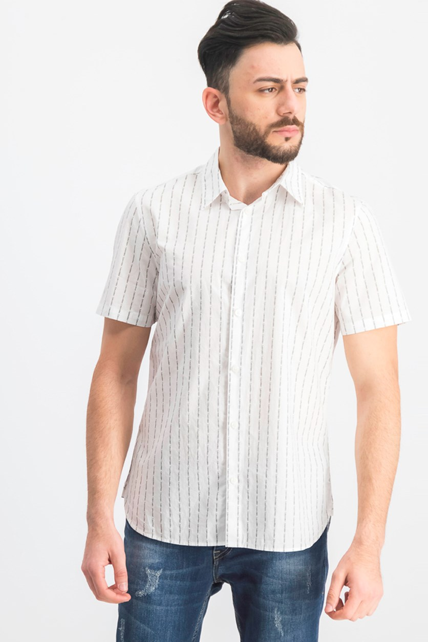 Men's Pinstripe Shirt, Brilliant White