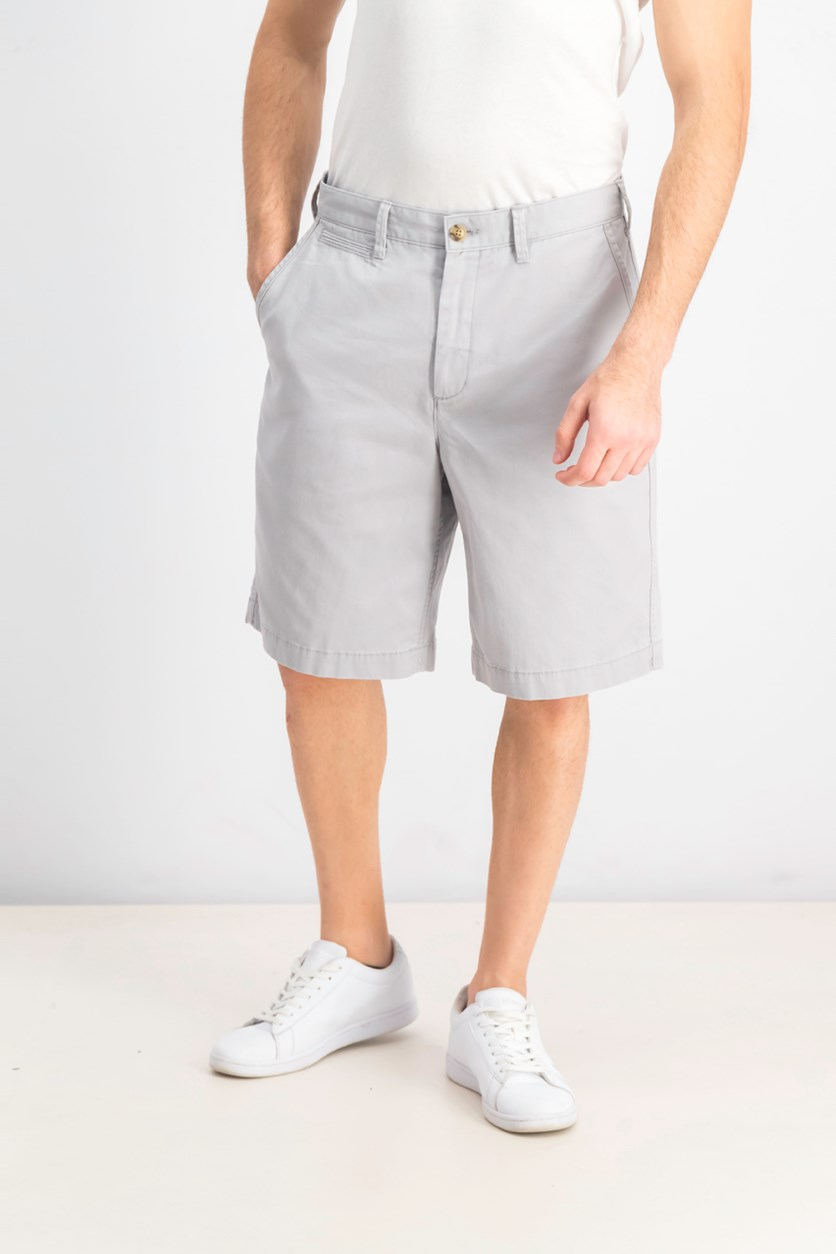 Men's Relaxed Fit Twill Short, Grey