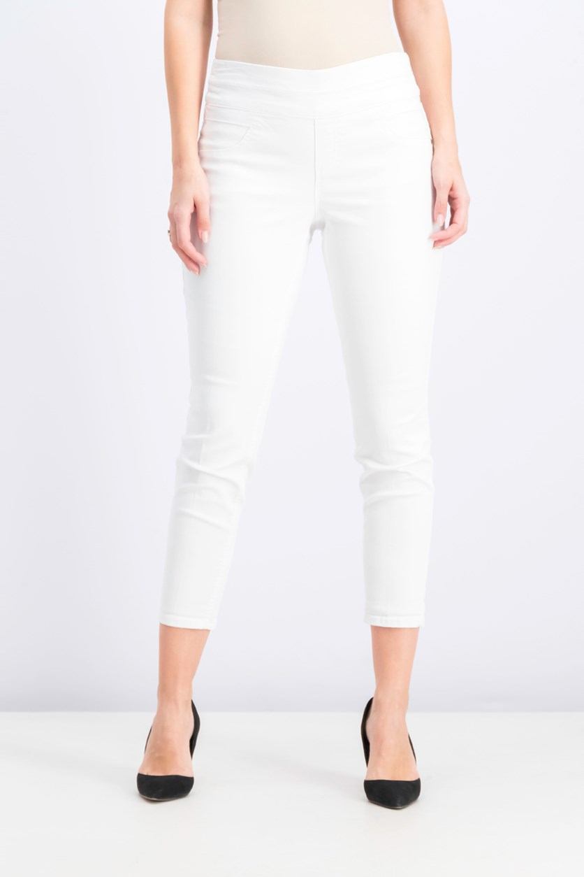 Women's Plain Pants, Bright White
