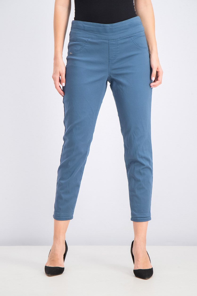 Women's Rolled-Hem Skinny Pants, New Uniform/Blue