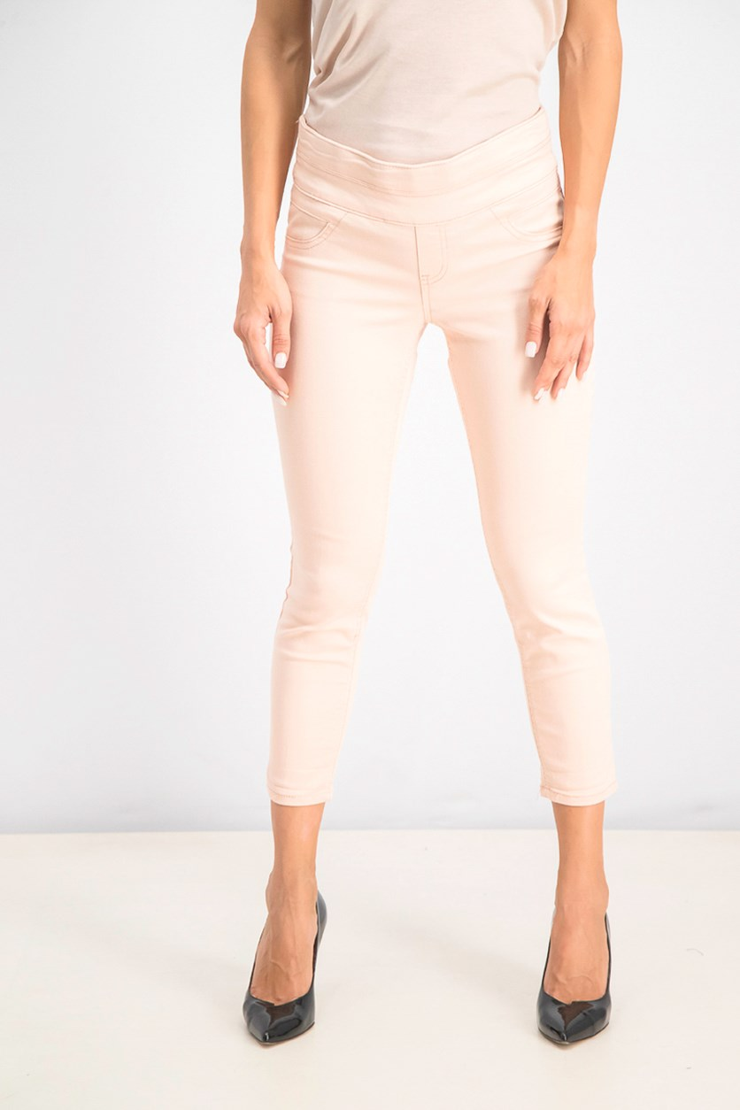 Women's Petite Cropped Pull-On Pants, Crushed Petal