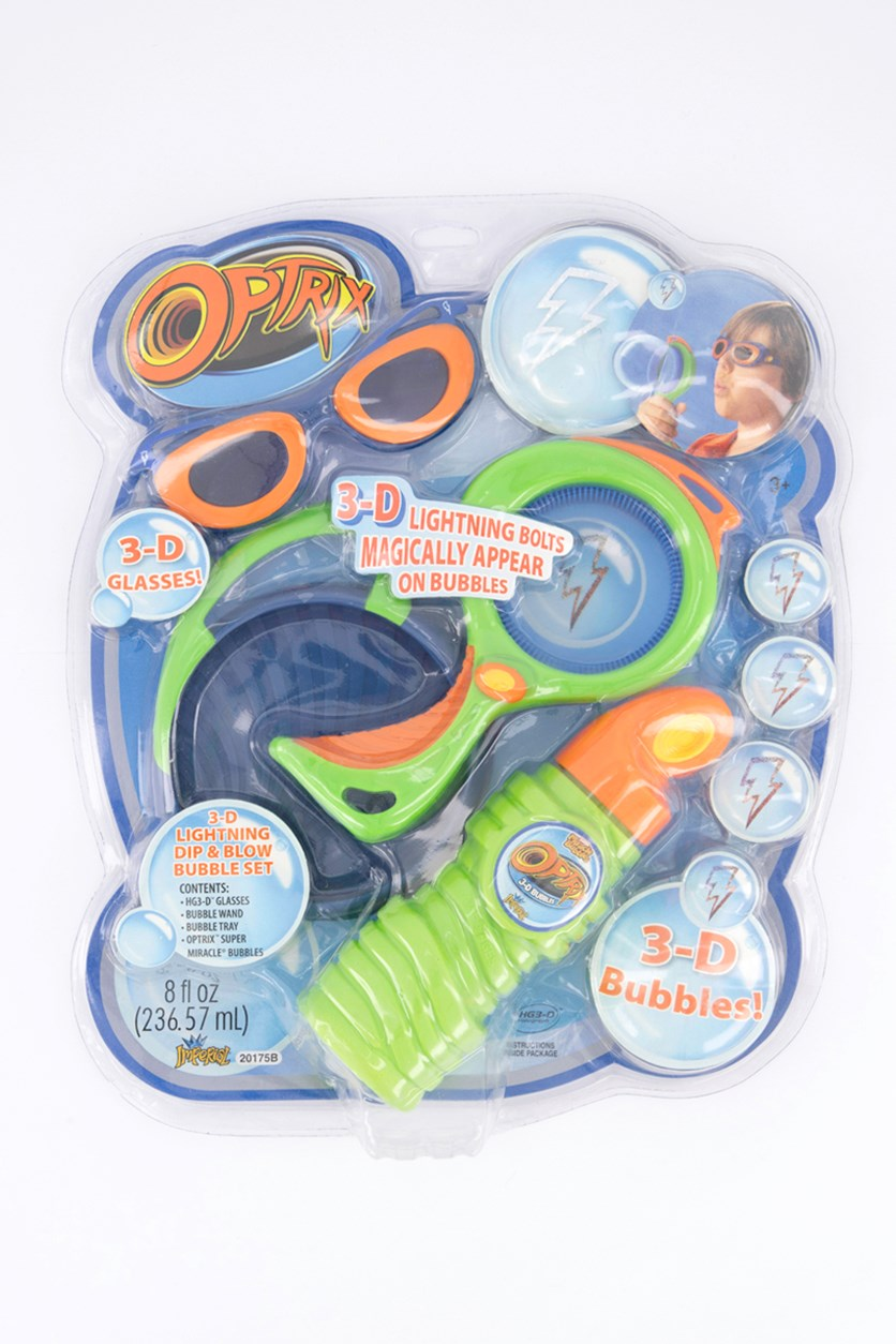 Bubble 3D Optrix With 3D Glasses On Blister, Green Combo