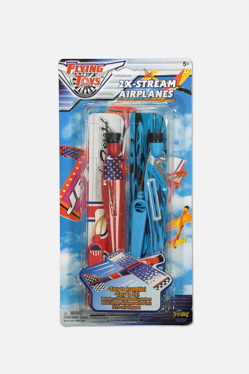 Flying Toys 2X-Stream Airplanes, Red/Blue