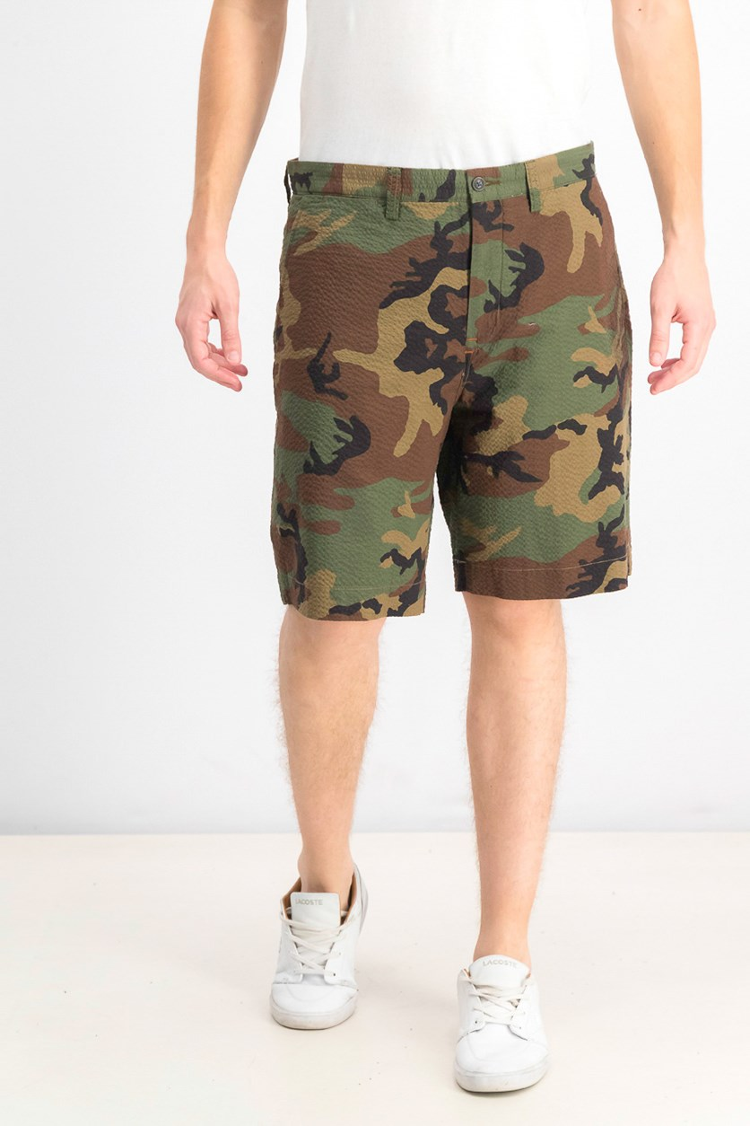 Men's Classic-Fit Camo Shorts, Green/Brown/Black