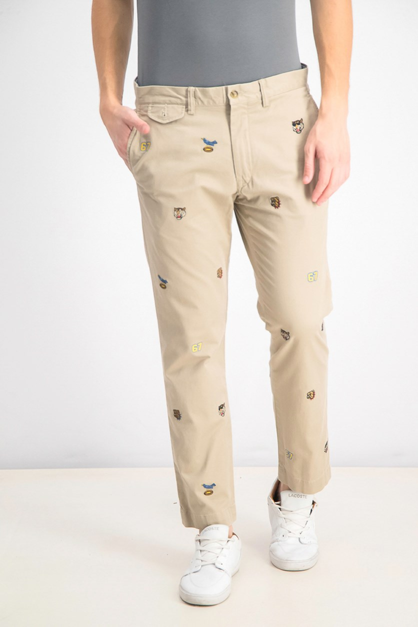 Men's Stretch Slim-Fit Chino Pants, Beige