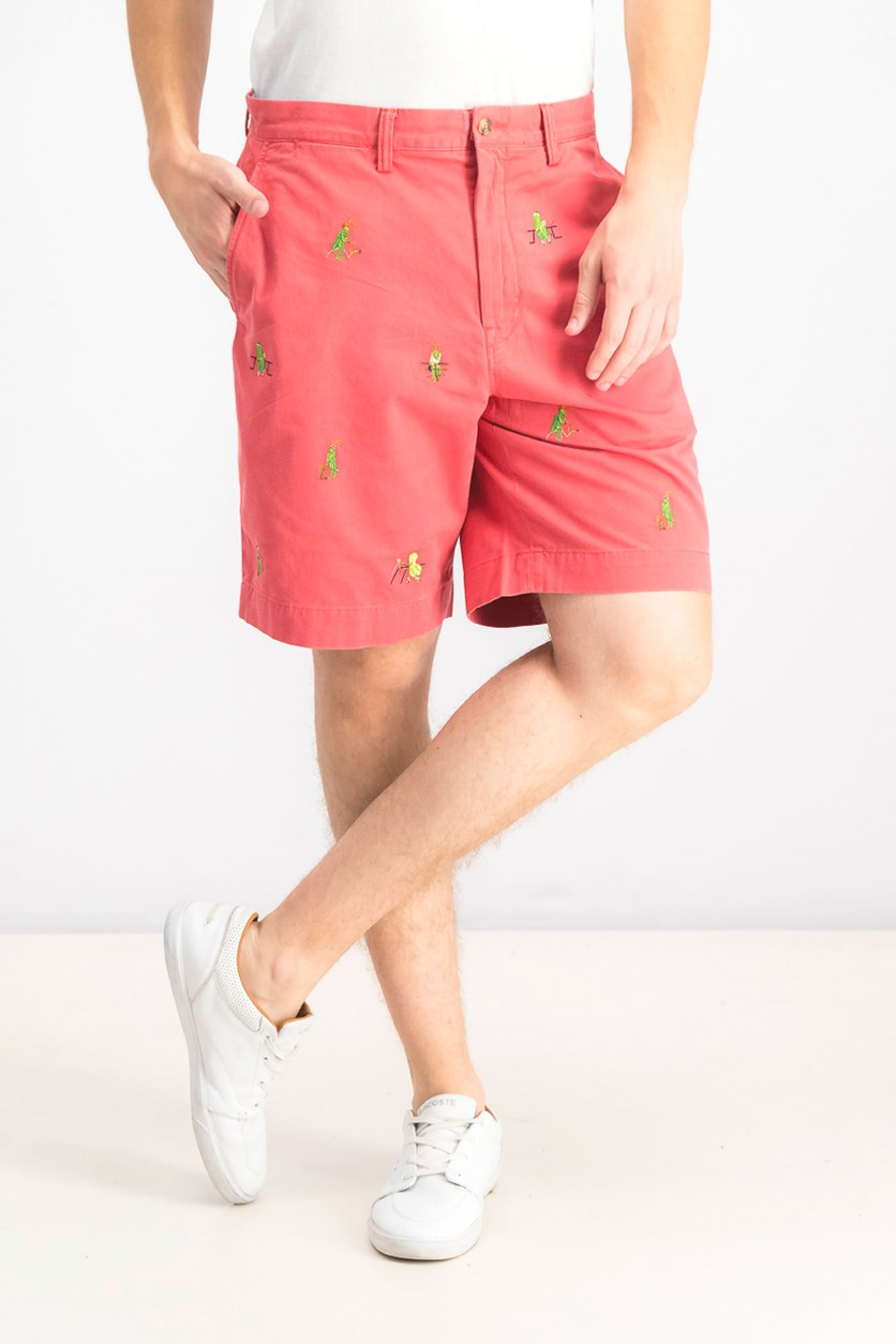 Men's Stretch Classic-Fit Shorts, Red Combo