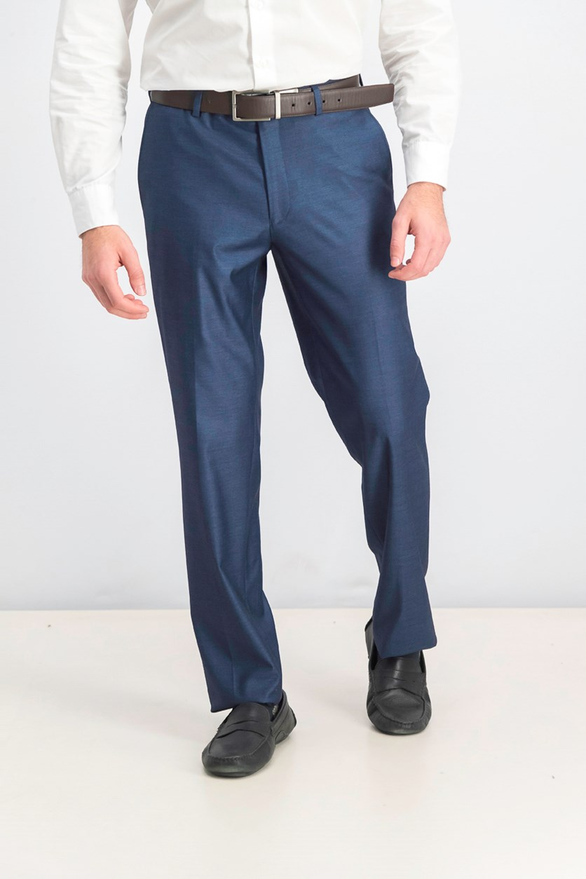 Men's Slim-Fit Stretch Dress Pants, Navy