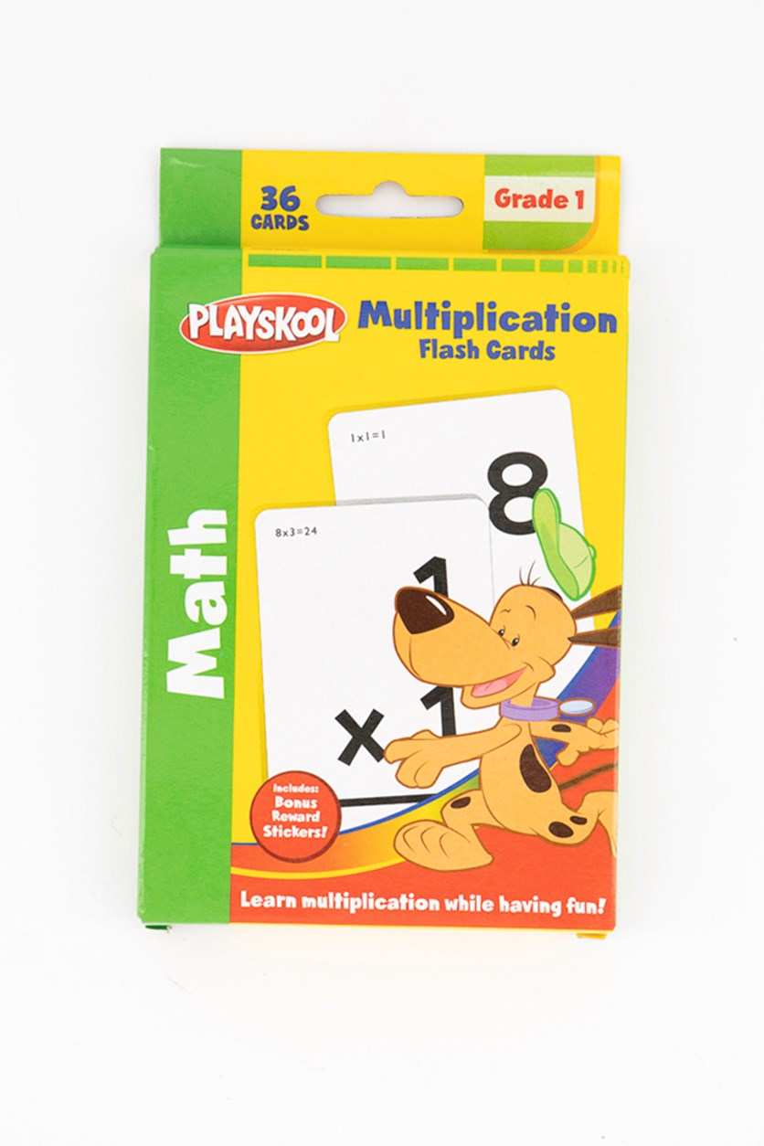 Multiplication Flash Cards, White Combo