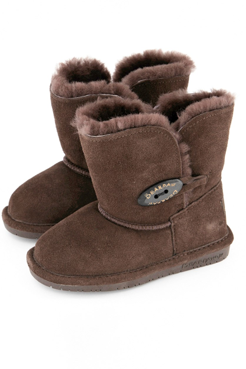 Abigail Youth Oval Boots, Chocolate