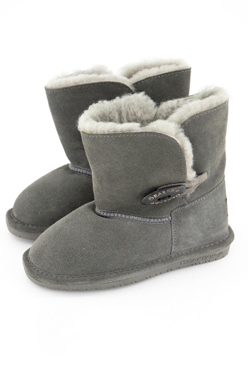 Abigail Youth Oval Boots, Gray