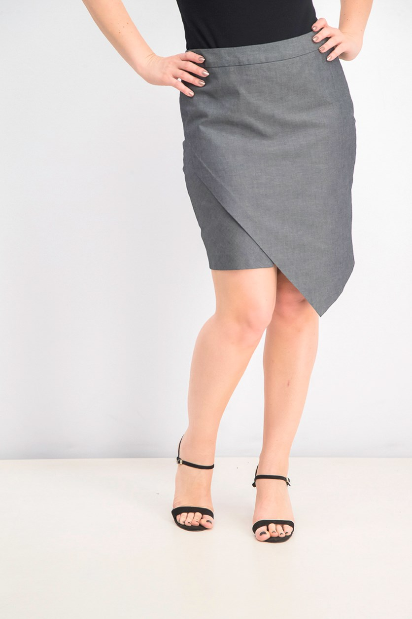 Women's Asymmetrical Skirt, Black