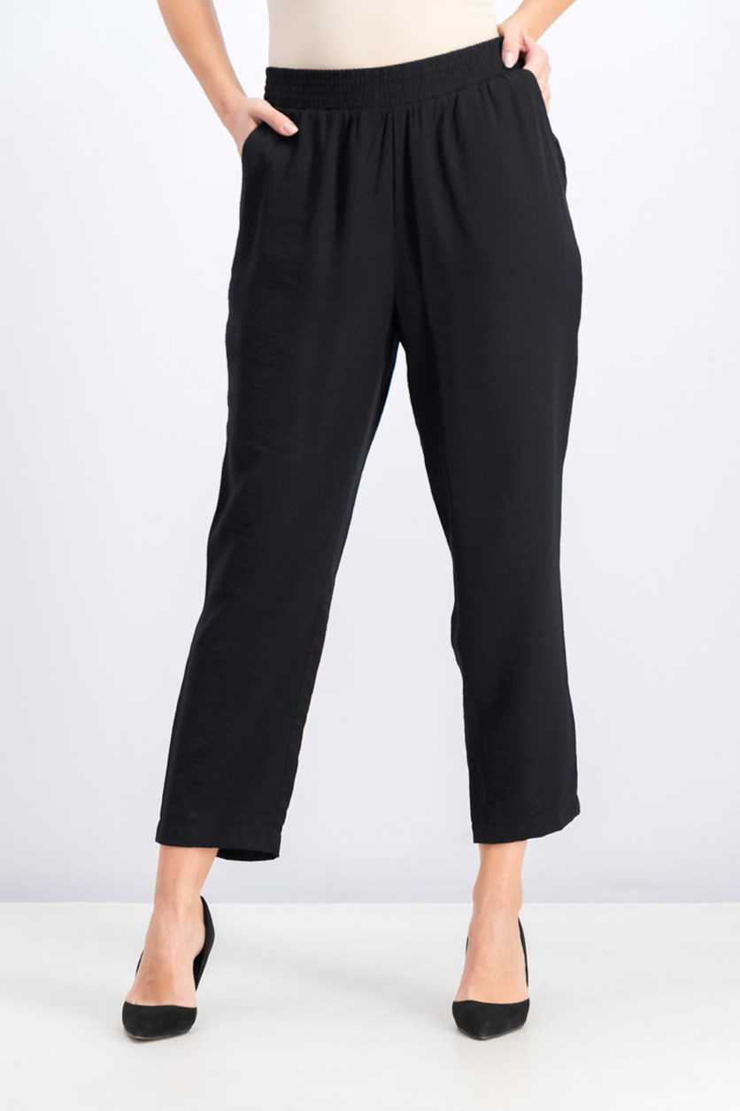 Women's Pull-On Ankle Pants, Black
