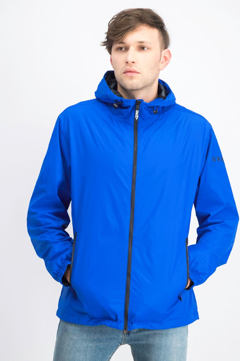 Men's Hoodie Windbreaker Jacket, Blue