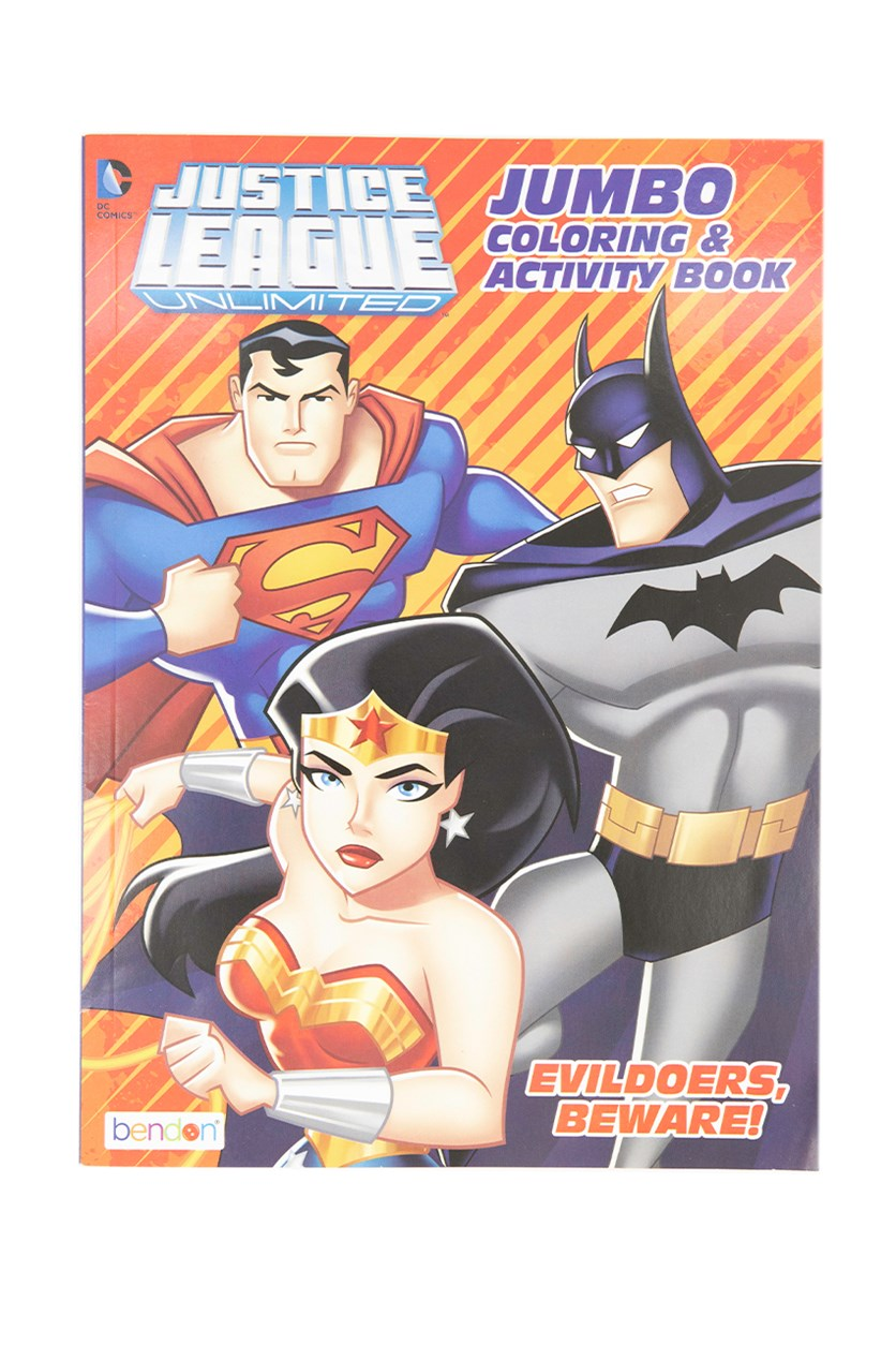 Justice League And Avengers Activity Books, Red/Blue Combo