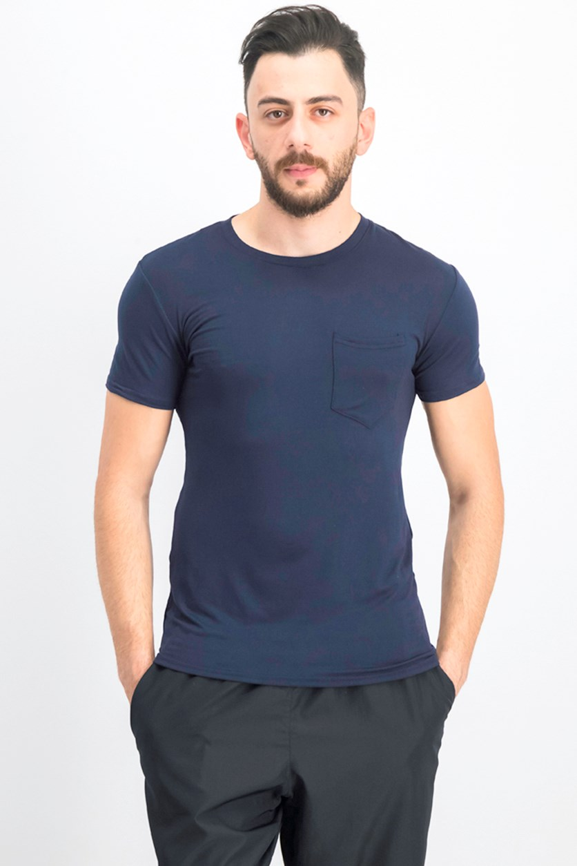 Men's Stretch Pocket Tee, Navy