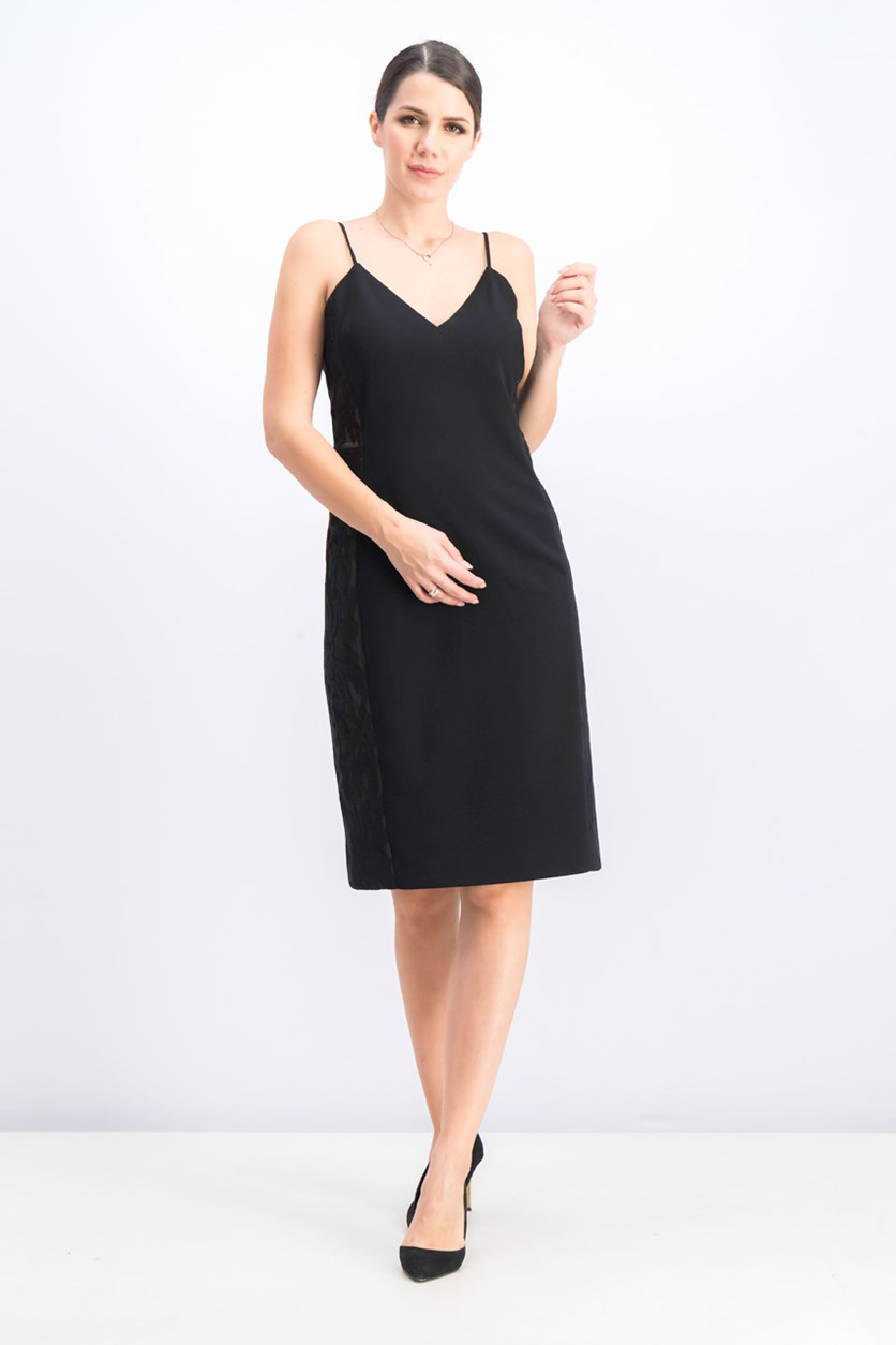 Women's Cold Shoulder Dress, Black