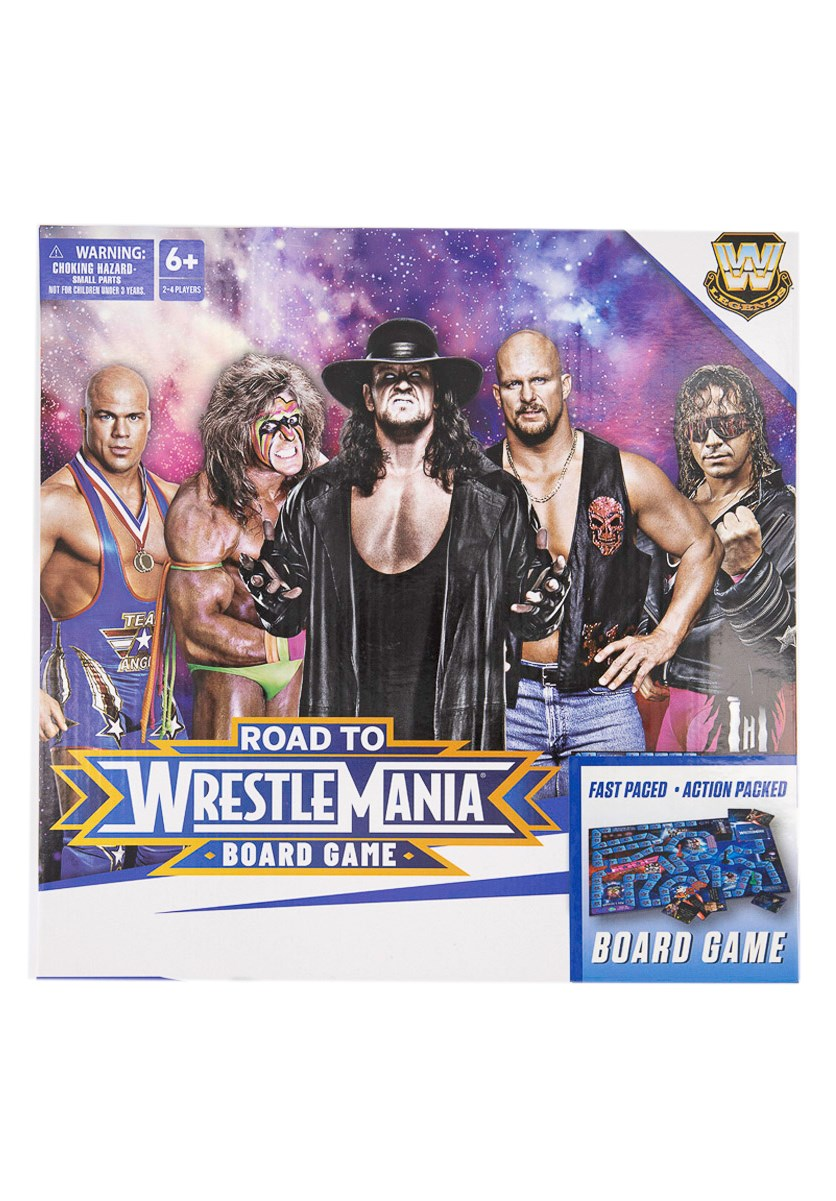 Road To Wrestle Mania Board Game, White/Blue Combo