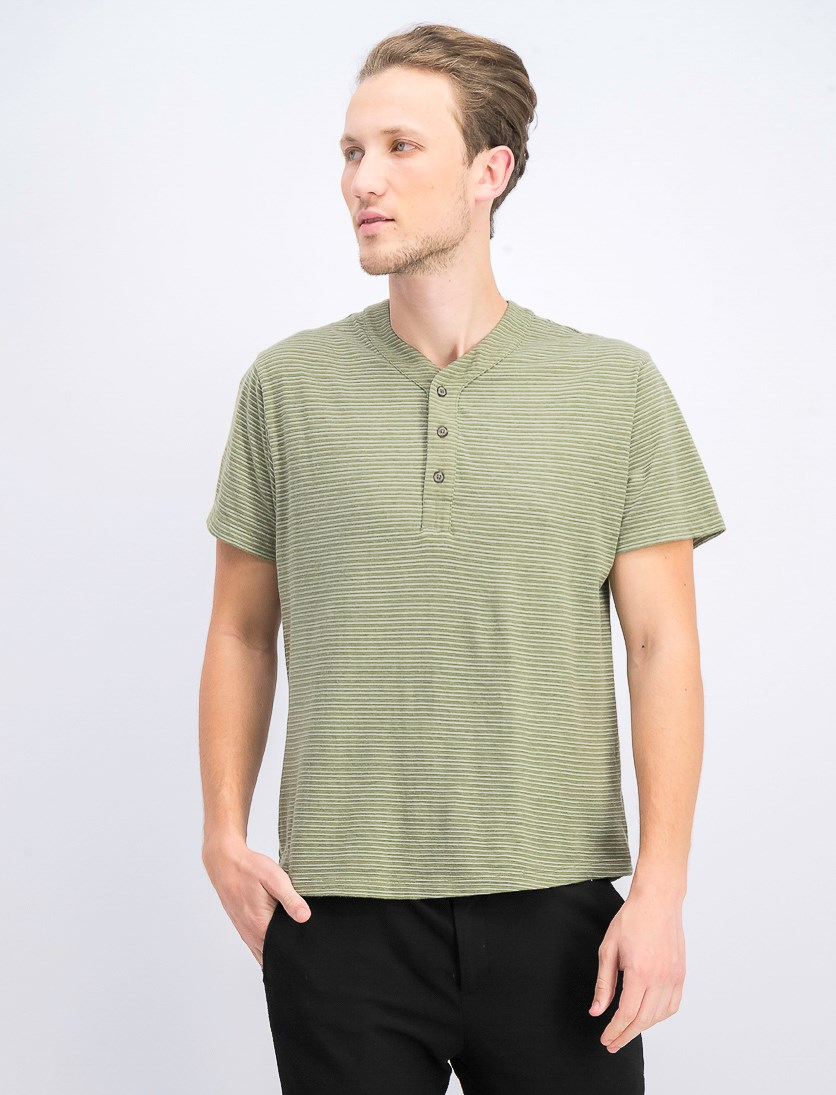 Men's Parsons Striped Tee, Light Fatigue