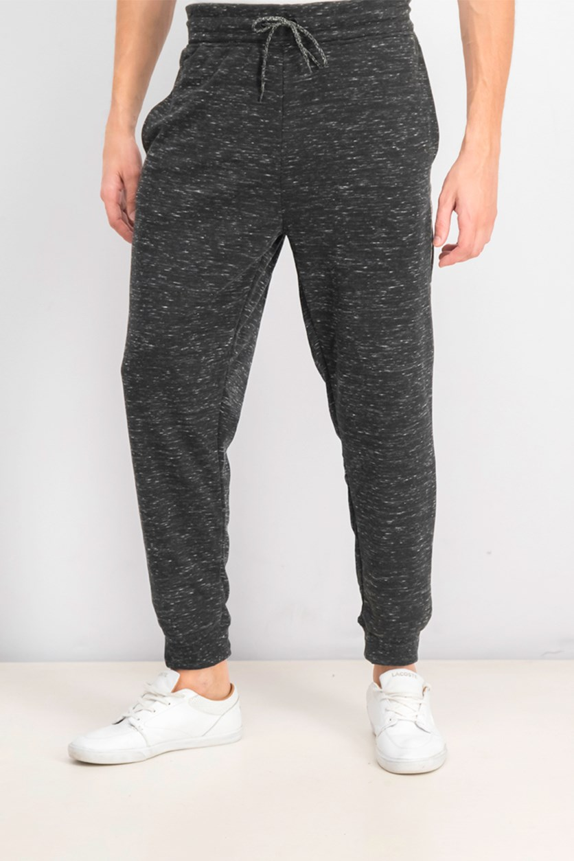 Men's Pull On Heather Jogger Pants, Dark Grey/Silver