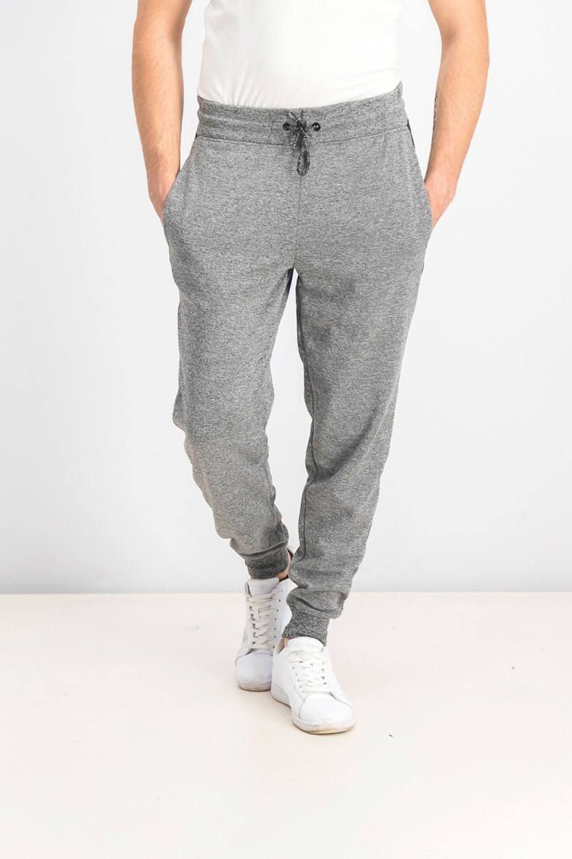 Men's Pull On Heather Jogger Pants, Gray