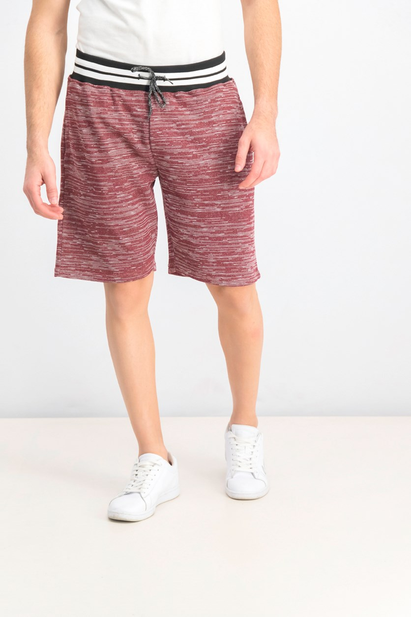 Men's Marled Knit Short, Burgundy